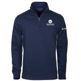 Comm College Navy Slub Fleece 1/4 Zip Pullover-Stacked