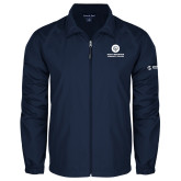 Comm College Full Zip Navy Wind Jacket-Stacked