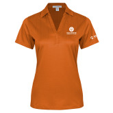 Comm College Ladies Orange Performance Fine Jacquard Polo-Stacked