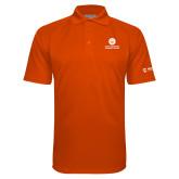 Comm College Orange Textured Saddle Shoulder Polo-Stacked