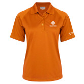 Comm College Ladies Orange Textured Saddle Shoulder Polo-Stacked