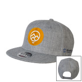 Comm College Heather Grey Wool Blend Flat Bill Snapback Hat-Icon