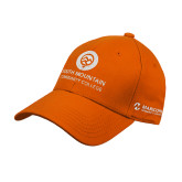 Comm College Orange Heavyweight Twill Pro Style Hat-Stacked