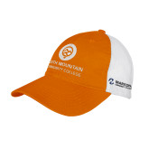 Comm College Orange/White Mesh Back Unstructured Low Profile Hat-Stacked