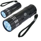 Industrial Triple LED Black Flashlight-Stacked  Engraved