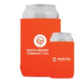 Comm College Neoprene Orange Can Holder-Stacked