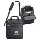 Kenneth Cole Black Vertical Checkpoint Friendly Messenger-Stacked