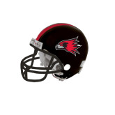 Riddell Replica Black Mini Helmet-Redhawk Head