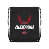 Black Drawstring Backpack-2017 OVC Mens Outdoor Track and Field Champions