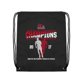 Black Drawstring Backpack-2017 OVC Mens Outdoor Track and Field Champions back to back