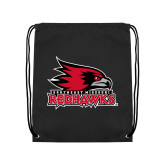 Bookstore Black Drawstring Backpack-Primary Logo