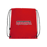 Red Drawstring Backpack-Southeast Missouri Redhawks