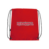 Red Drawstring Backpack-Redhawks