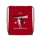 Red Drawstring Backpack-2017 OVC Mens Outdoor Track and Field Champions back to back