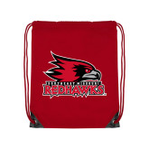 Bookstore Red Drawstring Backpack-Primary Logo