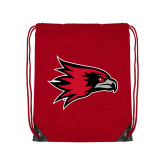 Bookstore Red Drawstring Backpack-Hawk Head