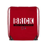 Bookstore Red Drawstring Backpack-Brick 2018 FCS Playoffs
