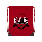 Bookstore Red Drawstring Backpack-Playoffs Football Design 2018