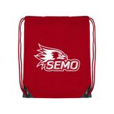 Bookstore Red Drawstring Backpack-SEMO Logo