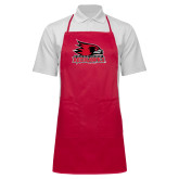 Bookstore Full Length Red Apron-Primary Logo