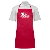 Bookstore Full Length Red Apron-SEMO Logo
