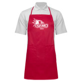 Bookstore Full Length Red Apron-Mom