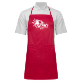 Bookstore Full Length Red Apron-Dad
