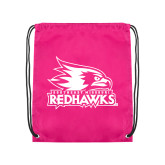 Bookstore Pink Drawstring Backpack-Primary Logo