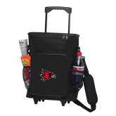 Bookstore 30 Can Black Rolling Cooler Bag-Hawk Head