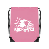 Bookstore Light Pink Drawstring Backpack-Primary Logo