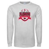 Bookstore White Long Sleeve T Shirt-Playoffs Football Design 2018