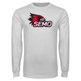 Bookstore White Long Sleeve T Shirt-SEMO Logo