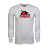 State White Long Sleeve T Shirt-Official Logo