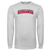 State White Long Sleeve T Shirt-Arched Southeast Missouri Redhawks