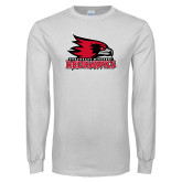 Bookstore White Long Sleeve T Shirt-Primary Logo