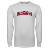 Bookstore White Long Sleeve T Shirt-Southeast Missouri Redhawks Arched