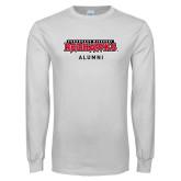 Bookstore White Long Sleeve T Shirt-Alumni