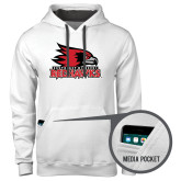 Bookstore Contemporary Sofspun White Hoodie-Official Logo