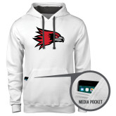 Bookstore Contemporary Sofspun White Hoodie-Redhawk Head