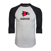 White/Black Raglan Baseball T-Shirt-Grandparent
