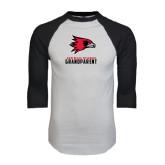 White/Black Raglan Baseball T-Shirt-Grandparent