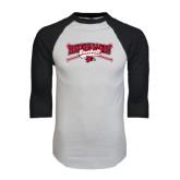 White/Black Raglan Baseball T-Shirt-Baseball Bats