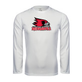State Syntrel Performance White Longsleeve Shirt-Official Logo