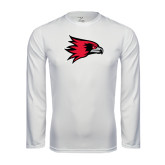 State Syntrel Performance White Longsleeve Shirt-Redhawk Head