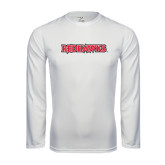 State Syntrel Performance White Longsleeve Shirt-Redhawks