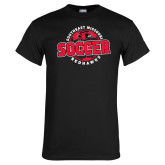 Black T Shirt-Soccer Design