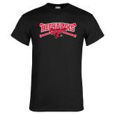 Black T Shirt-Baseball Bats