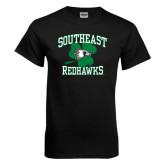 Black T Shirt-Southeast Redhawks Shamrock
