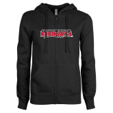 Bookstore ENZA Ladies Black Fleece Full Zip Hoodie-Southeast Missouri Redhawks