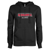 Bookstore ENZA Ladies Black Fleece Full Zip Hoodie-Alumni